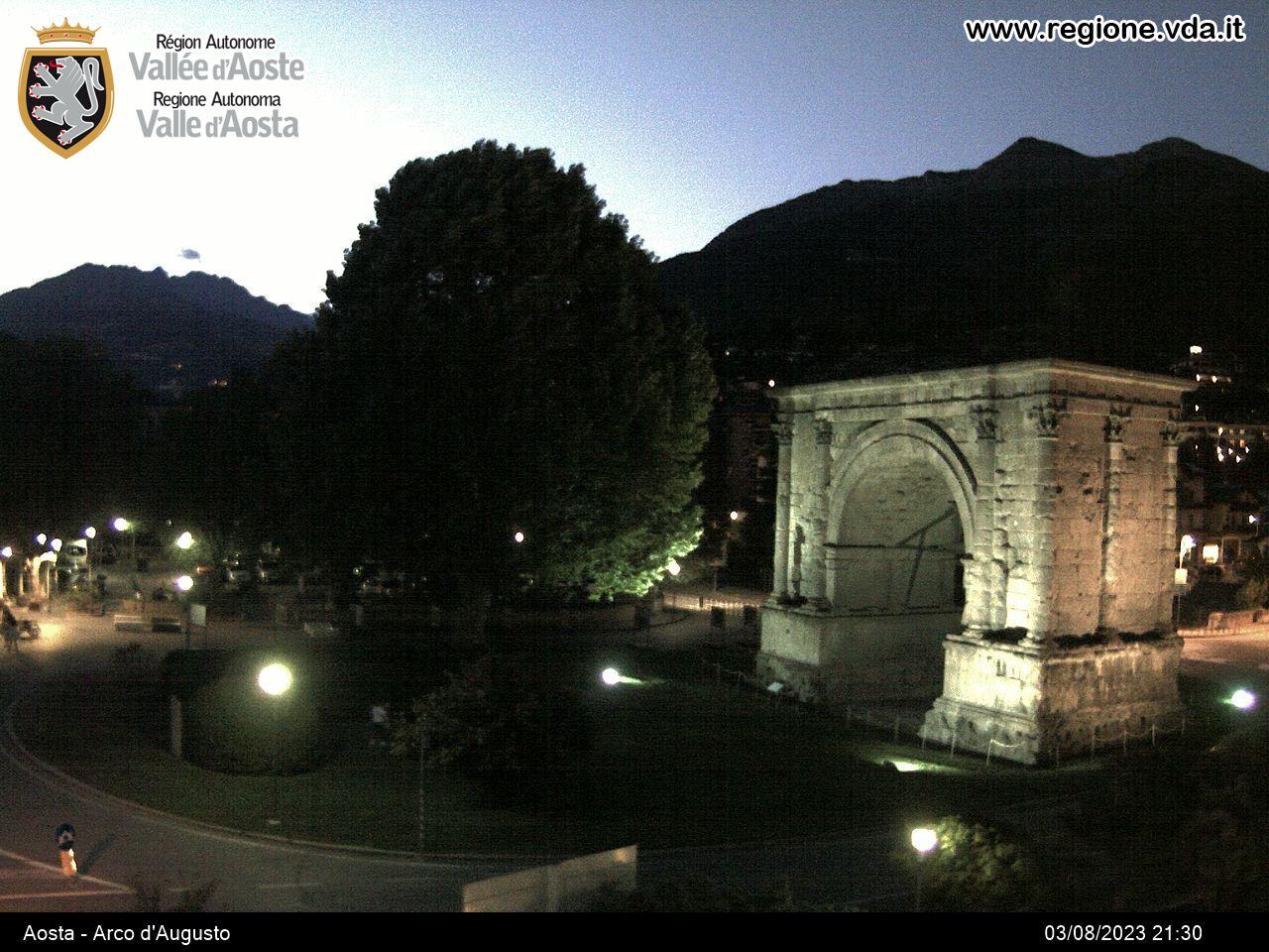 Aosta Town Webcam, Arco d'Augusto