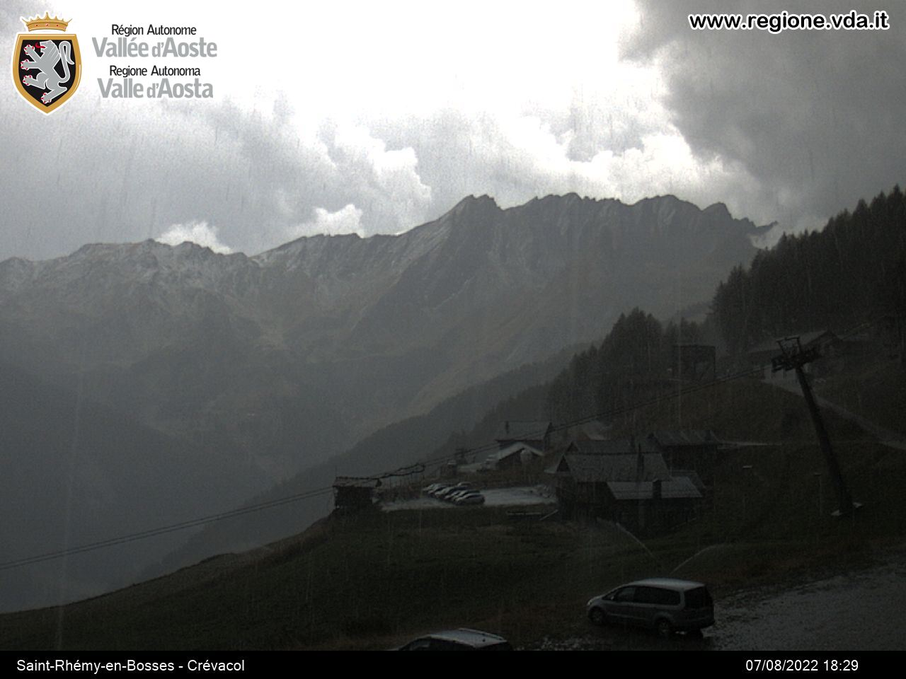 Webcam Saint-Rhemy en Bosses & Crevacol